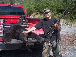 Alaskan Bear Hunting on a hunting trip with Log Cabin Resort and RV Park